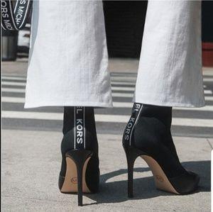 Michael Kors Vicky Logo Tape Boots 10